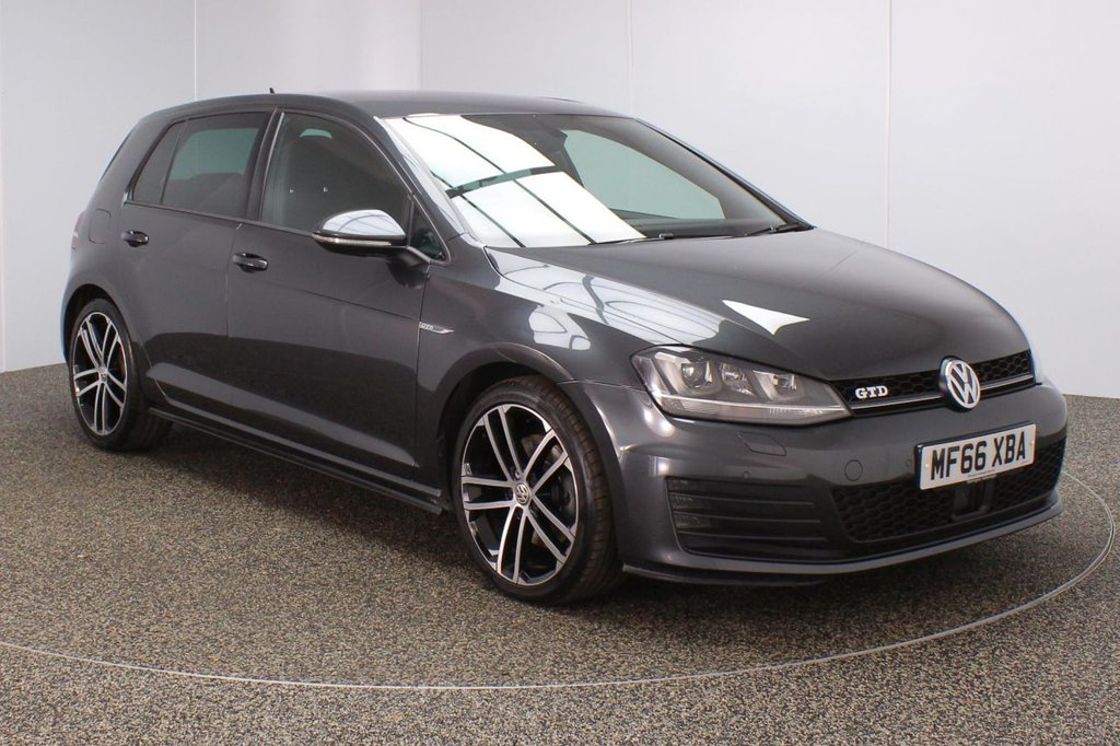 USED 2016 66 VOLKSWAGEN GOLF 2.0 GTD DSG 5DR 1 OWNER AUTO 182 BHP SERVICE HISTORY + HEATED FRONT SEATS + PARKING SENSOR + BLUETOOTH + CRUISE CONTROL + CLIMATE CONTROL + MULTI FUNCTION WHEEL + DAB RADIO + PRIVACY GLASS + XENON HEADLIGHTS + ELECTRIC WINDOWS + ELECTRIC/HEATED/FOLDING DOOR + 18 INCH ALLOY WHEELS