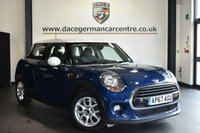 """USED 2018 67 MINI HATCH COOPER 1.5 COOPER D 3DR 114 BHP Finished in a stunning deep metallic blue styled with 16"""" alloys. Upon opening the drivers door you are presented with half leather interior, full service history, bluetooth, DAB radio, sport seats, Automatic air conditioning, rain sensors, MINI Excitement package, Light package, On-board computer"""