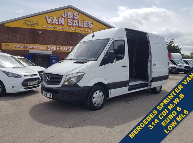 USED 2016 66 MERCEDES-BENZ SPRINTER  314CDI 140 BHP M.W.B EURO 6 VAN LOW MLS F.S.H (((( LOTS MORE EURO 6 VANS ON SITE OVER 100 )))