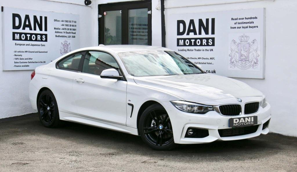 USED 2017 17 BMW 4 SERIES 2.0 420d M Sport Auto (s/s) 2dr PRO SATNAV*RED LEATHER*XENONS