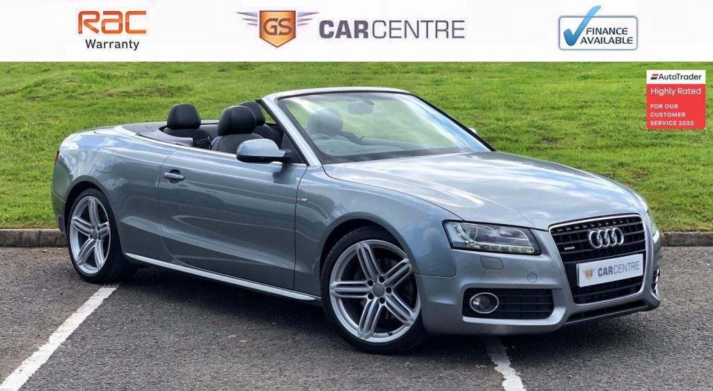 USED 2012 AUDI A5 3.0 TDI S line Cabriolet S Tronic quattro 2dr £3770 extras + B+O + Leather