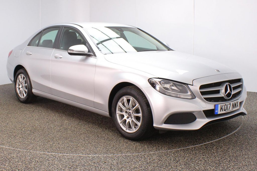 USED 2017 17 MERCEDES-BENZ C-CLASS 2.0 C200 SE 4DR 184 BHP MERCEDES-BENZ SERVICE HISTORY + LEATHER SEATS + SATELLITE NAVIGATION + REVERSE CAMERA + BLUETOOTH + CRUISE CONTROL + CLIMATE CONTROL + MULTI FUNCTION WHEEL + DAB RADIO + USB/SD SLOTS + ELECTRIC FRONT SEATS + ELECTRIC WINDOWS + ELECTRIC/HEATED DOOR MIRRORS + 16 INCH ALLOY WHEELS
