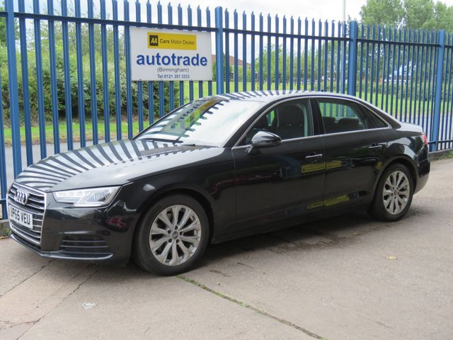 USED 2016 65 AUDI A4 2.0 TDI ULTRA SE 4d 148 BHP APPLE CAR PLAY ANDROID AUTO, PARK ASSIST, ULEZ COMPLIANT, HEATED SEATS HEATED SEATS, 1 OWNER, AUDI SERVICE HISTORY, FRONT AND REAR SENSORS, DAB, BLUETOOTH,