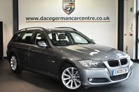 """USED 2009 09 BMW 3 SERIES 2.0 318I SE TOURING 5DR 141 BHP Finished in a stunning space grey metallic styled with 17"""" alloys. Upon entry you are presented with """"vortex"""" anthracite upholstery, full service history, pro bmw radio, parking sensors, light package, automatic air conditioning, auto stop/start, isofix child seat system, auto dipping mirrors, electric door mirrors, beautifully maintained"""