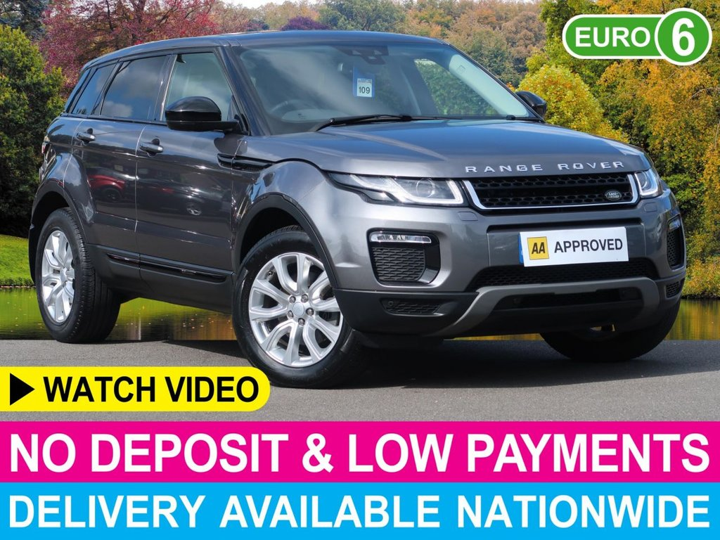 USED 2016 65 LAND ROVER RANGE ROVER EVOQUE 2.0 TD4 SE TECH 4WD 180 BHP SAT NAV FULL BLACK LEATHER 4WD