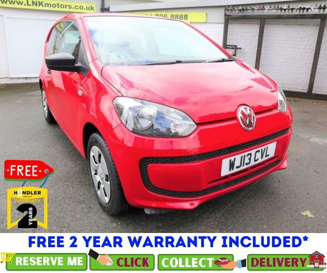 USED 2013 13 VOLKSWAGEN UP 1.0 TAKE UP 3d 59 BHP *CLICK & COLLECT OR DELIVERY