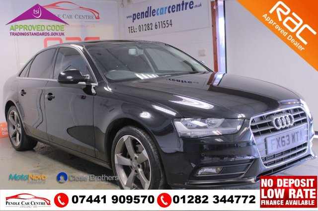USED 2013 63 AUDI A4 2.0 TDI SE TECHNIK 4d 148 BHP OVER £3K OF UPGRADED, FACTORY FITTED SPEC + RAC APPROVED + PLATINUM WARRANTY