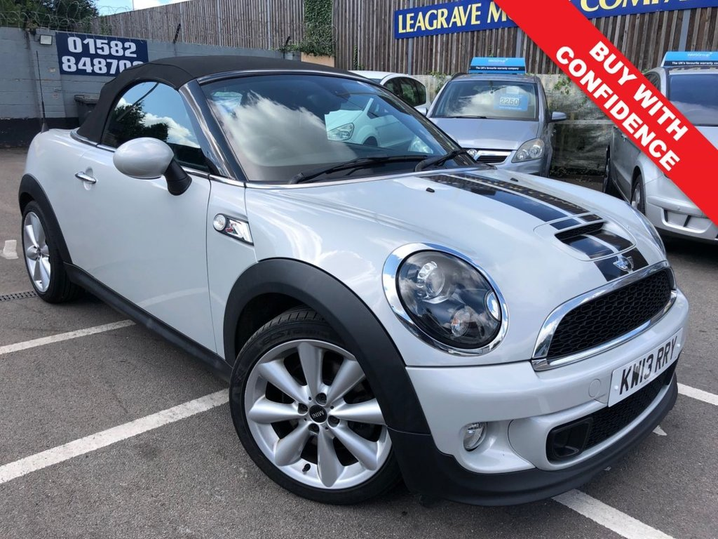 USED 2013 13 MINI ROADSTER 1.6 COOPER S 2d 181 BHP COMES WITH 12 MONTH MOT