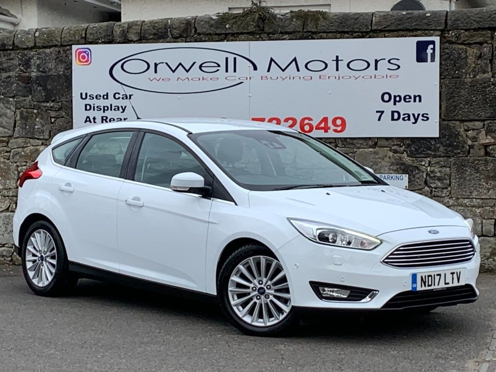 USED 2017 17 FORD FOCUS 1.5 TITANIUM X TDCI 5d 118 BHP FULL SERVICE HISTORY+1 OWNER+SATELLITE NAVIGATION+CRUISE CONTROL+HALF LEATHER+AUTOMATIC+HEATED FRONT SEATS+REAR REVERSE CAMERA