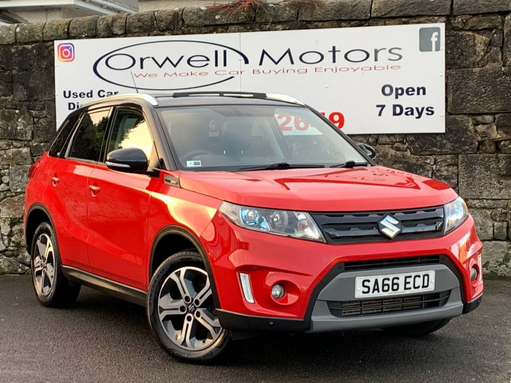 USED 2016 66 SUZUKI VITARA 1.6 SZ5 DDIS ALLGRIP 5d 118 BHP FULL SERVICE HISTORY+SATELLITE NAVIGATION+HALF LEATHER+CRUISE CONTROL+PANORAMIC GLASS ROOF+FOUR WHEEL DRIVE