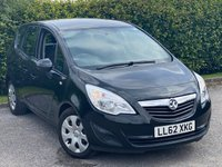 USED 2012 62 VAUXHALL MERIVA 1.7 EXCLUSIV CDTI 5d 128 BHP VALUE FOR MONEY FAMILY CAR