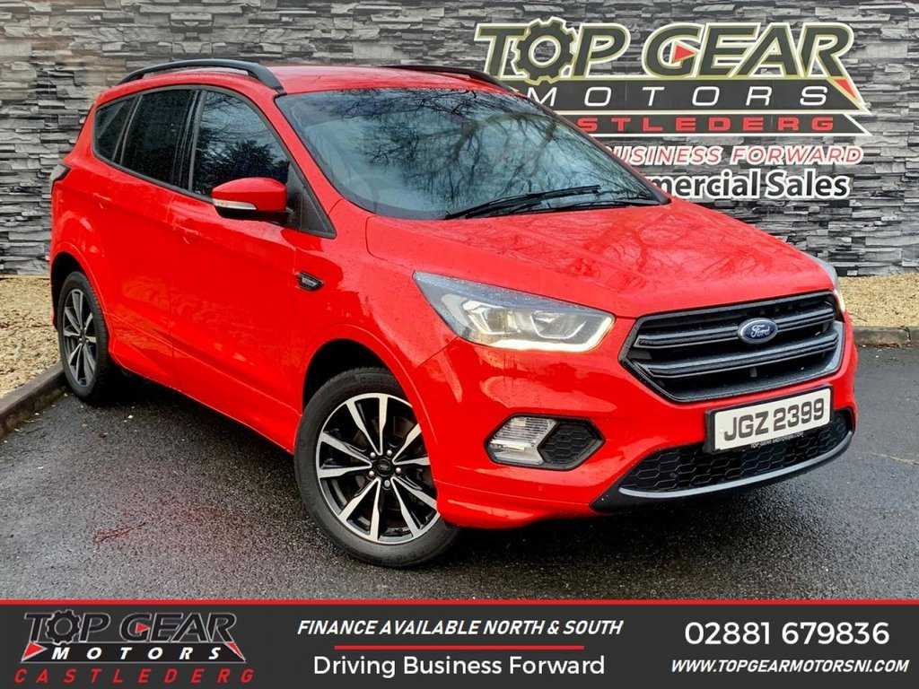 USED 2018 FORD KUGA ST-LINE TDCI 1.5 120 BHP **OVER 90 VEHICLES IN STOCK** **SAT NAV, BLUETOOTH, PARKING PILOT**
