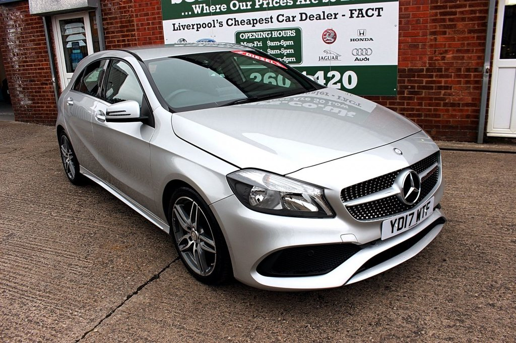USED 2017 17 MERCEDES-BENZ A-CLASS 2.1 A 200 D AMG LINE 5d 134 BHP +HALF LEATHER +BLUETOOTH +NAV.