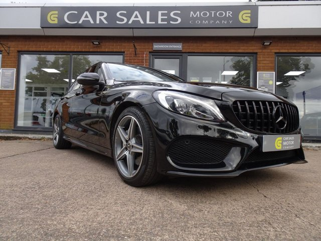 USED 2017 67 MERCEDES-BENZ C-CLASS 2.1 C 220 D AMG LINE PREMIUM PLUS 4d 170 BHP ONE OWNER, LOW MILEAGE 18K, C63 S STYLING - GRILLE, SPOILER, EXHAUST TIPS, PANORAMIC ROOF, SAT NAV, LEATHER, REVERSING CAMERA,BLUETOOTH, AMG ALLOYS WITH PIRELLI TYRES ALL ROUND, FULL MERCEDES SERVICE HISTORY, HPI CLEAR, 2 REMOTE KEYS