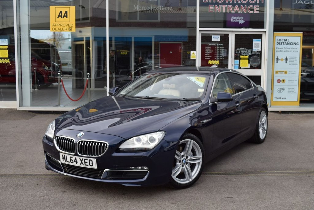 USED 2014 64 BMW 6 SERIES 3.0 640D SE GRAN COUPE 4d 309 BHP FINANCE TODAY WITH NO DEPOSIT - BMW SERVICE HISTORY