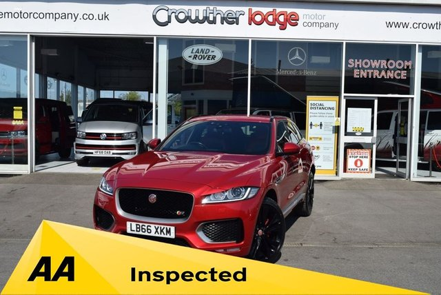 USED 2017 66 JAGUAR F-PACE 3.0 V6 S AWD 5d 296 BHP FINANCE TODAY WITH NO DEPOSIT - FULL JAGUAR SERVICE HISTORY