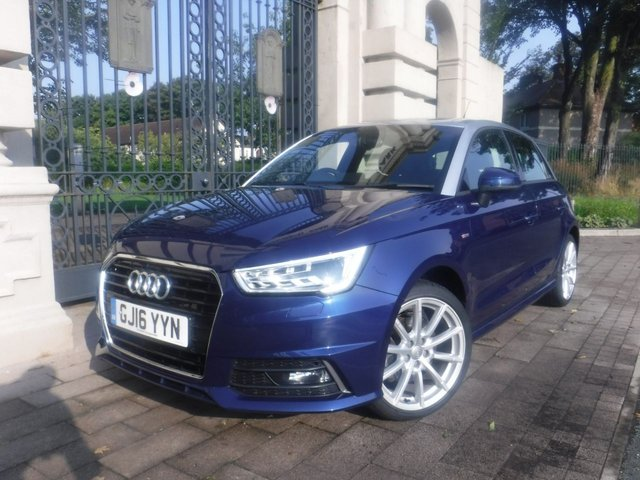 USED 2016 16 AUDI A1 1.6 SPORTBACK TDI S LINE 5d 114 BHP *** FINANCE & PART EXCHANGE WELCOME *** £ 0 FREE ROAD TAX SAT/NAV BLUETOOTH PHONE PARKING SENSORS AIR/CON CRUISE CONTROL