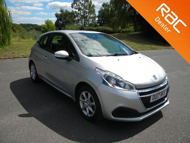 USED 2017 17 PEUGEOT 208 1.2 ACTIVE 3d 82 BHP BY APPOINTMENT ONLY - Only £20 A Year To Tax, Alloy Wheels, Cruise Control, Bluetooth, DAB, Air Con