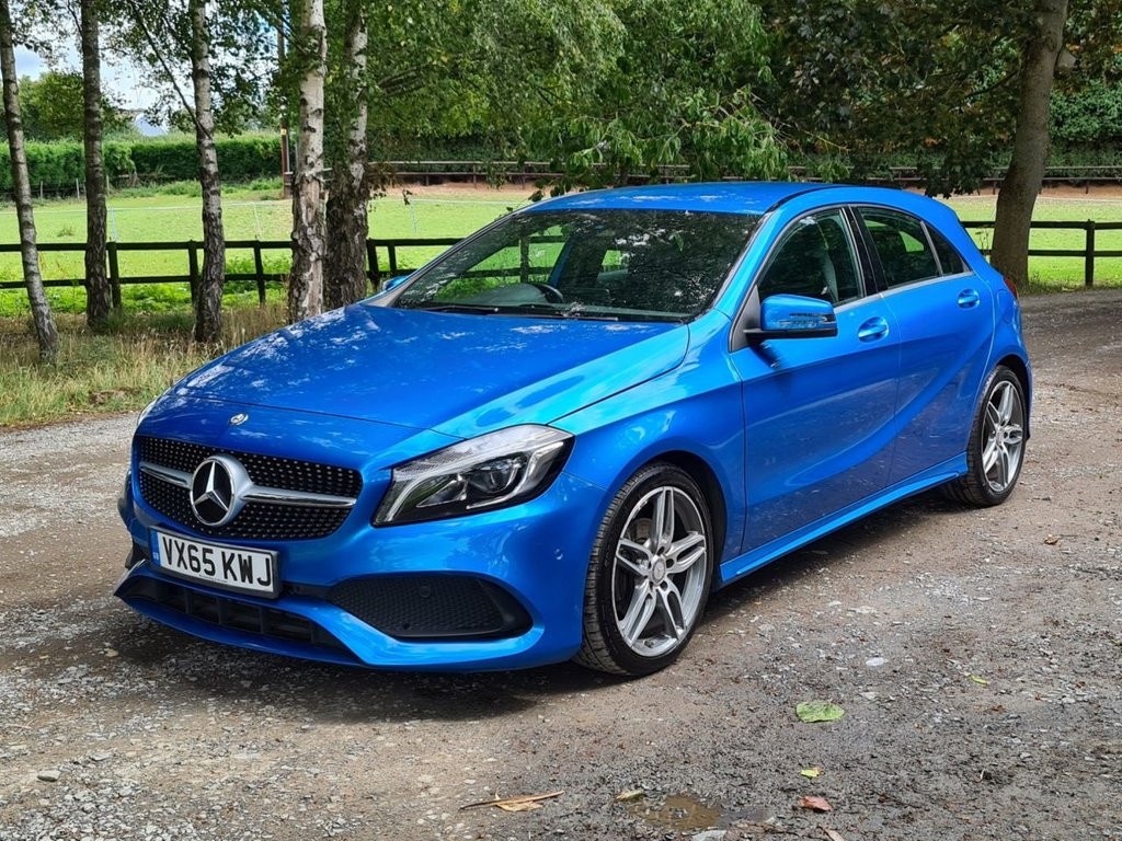 USED 2015 65 MERCEDES-BENZ A-CLASS 1.6 A 200 AMG LINE PREMIUM 5d 154 BHP +++STUNNING SOUTH SEAS BLUE+++