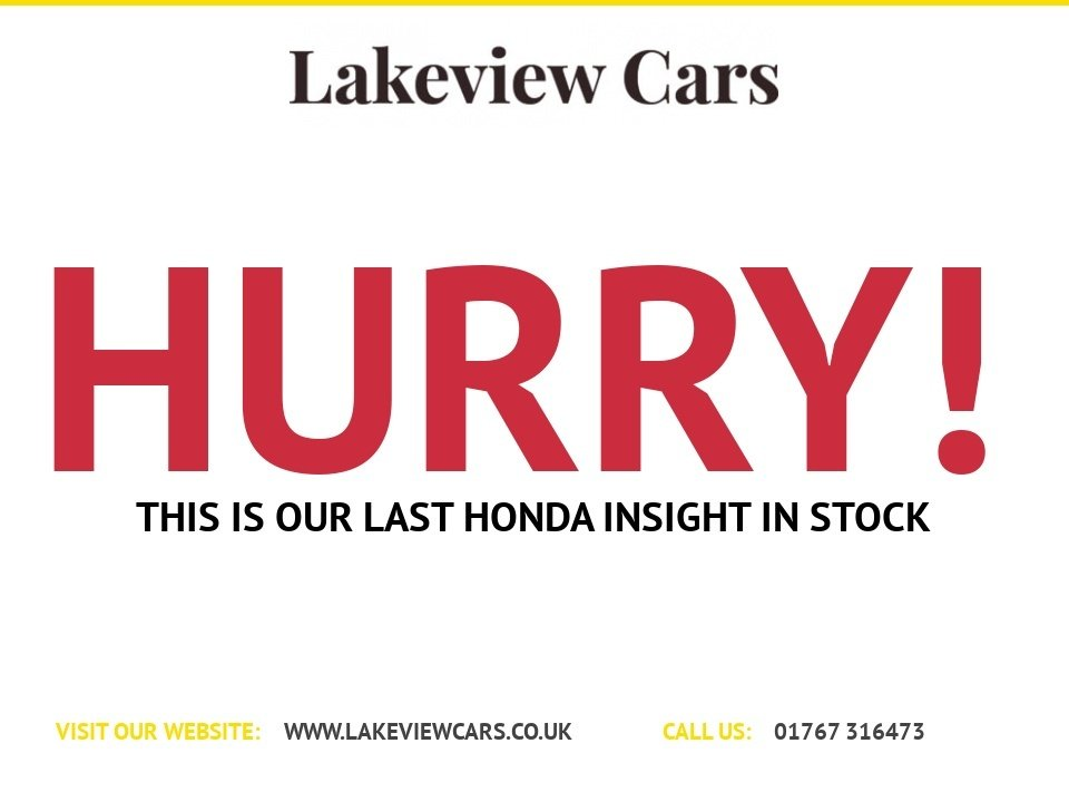 USED 2012 61 HONDA INSIGHT 1.3 IMA HS 5d 100 BHP