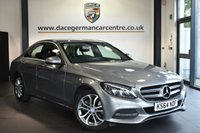 """USED 2015 64 MERCEDES-BENZ C-CLASS 2.1 C220 BLUETEC SPORT 4DR AUTO 170 BHP Finished in a stunning palladium metallic silver styled with 17"""" alloys. Upon opening the drivers door you are presented with full leather interior, full service history, satellite navigation, bluetooth, heated seats, reversing camera, cruise control, DAB radio, electric folding mirrors, rain sensors, active park assist"""