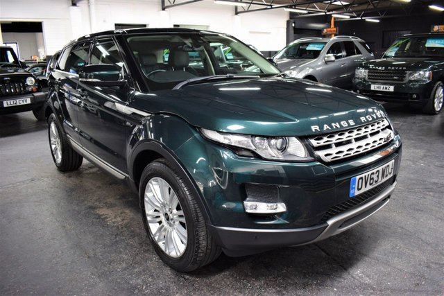 USED 2013 63 LAND ROVER RANGE ROVER EVOQUE 2.2 SD4 PRESTIGE 5d 190 BHP 4X4 AUTO LOVELY CONDITION THROUGHOUT - 7 LANDROVER SERVICE STAMPS TO 65K - AUTO - 190BHP -  4X4 - LEATHER - NAV - HEATED SEATS