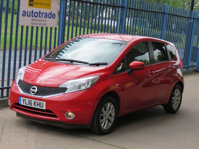 USED 2016 16 NISSAN NOTE 1.2 ACENTA PREMIUM 5dr Sat nav Bluetooth & audio Cruise Privacy Alloys Finance arranged Part exchange available Open 7 days ULEX Compliant