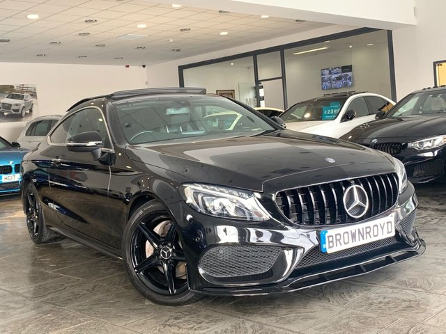 USED 2016 66 MERCEDES-BENZ C-CLASS 2.1 C 220 D AMG LINE PREMIUM 2d 168 BHP ++BRM BODY STYLING +PAN ROOF++