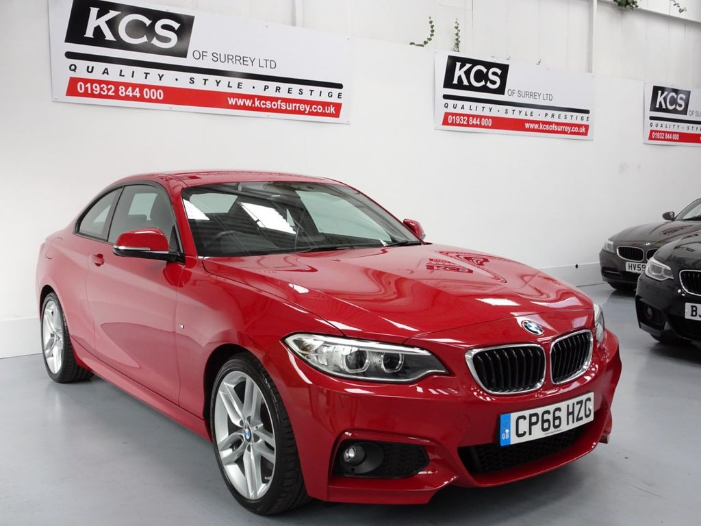 USED 2016 66 BMW 2 SERIES 2.0 230I M SPORT 2d 248 BHP SAT NAV - LEATHER - XENONS