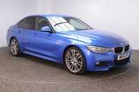 USED 2015 15 BMW 3 SERIES 2.0 320D M SPORT 4DR AUTO 181 BHP BMW SERVICE HISTORY + £30 12 MONTHS ROAD TAX + HEATED LEATHER SEATS + SATELLITE NAVIGATION + HARMAN/KARDON PREMIUM SPEAKERS + PARKING SENSOR + BLUETOOTH + CRUISE CONTROL + CLIMATE CONTROL + MULTI FUNCTION WHEEL + XENON HEADLIGHTS + DAB RADIO + AUX/USB PORTS + ELECTRIC WINDOWS + ELECTRIC/HEATED DOOR MIRRORS + 19 INCH ALLOY WHEELS