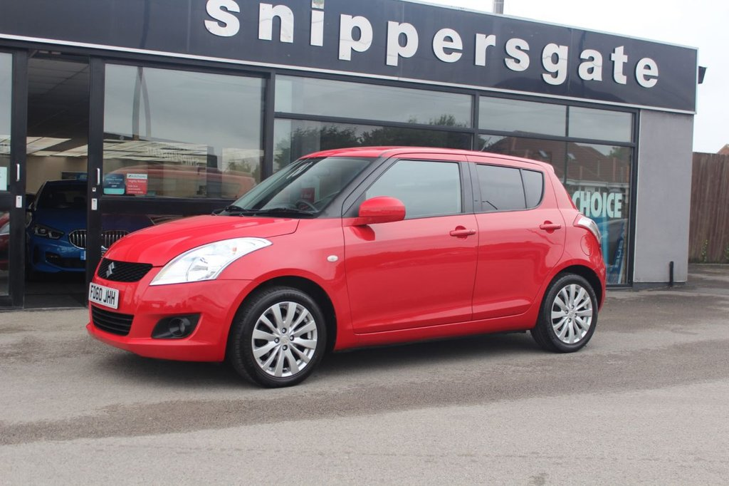 USED 2010 58 SUZUKI SWIFT 1.2 SZ4 5d 94 BHP 1 Former Keeper, Bluetooth Phone, Rear Privacy Glass, Keyless Start, Cruise Control, Auto Headlights, Leather Multii Function steering Wheel, 4x Electric Windows, Electric Door Mirrors, Front and Rear Heated Windscreens, 2 Keys and Book Pack, Service History.