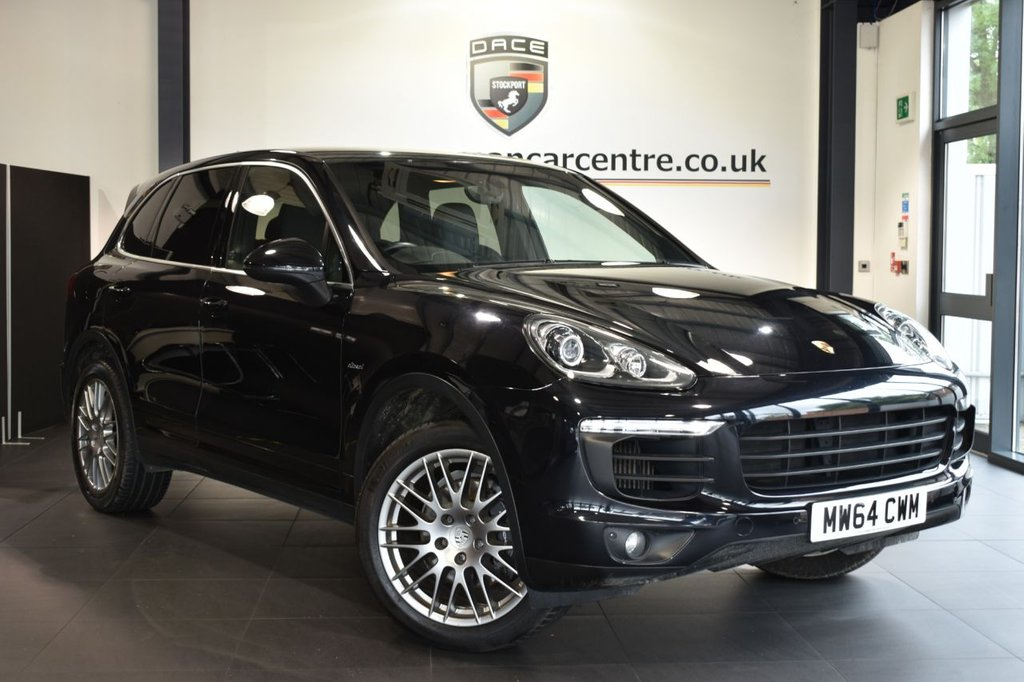 """USED 2014 64 PORSCHE CAYENNE 3.0 D V6 TIPTRONIC S 5DR AUTO 262 BHP Finished in a stunning metallic black styled with 20"""" RS spyder alloys. Upon opening the drivers door you are presented with full black leather interior, full service history, porsche communication management with sat nav, porsche entry and drive, bluetooth, heated seats, cruise control, climate control, privacy glass, parking sensors"""