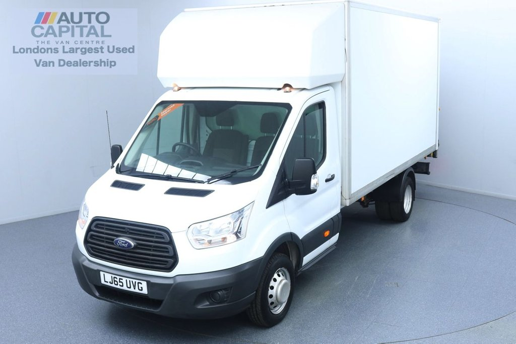 USED 2015 65 FORD TRANSIT 2.2 350 RWD Twin Wheels L4 X-LWB 125 BHP Luton Van Finance Available Online | Rear Tail Lift Fitted | UK Delivery