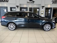 USED 2014 64 TOYOTA AURIS 1.8 VVT-I EXCEL 5d 98 BHP FINISHED IN STUNNING METALLIC ASPEN GREY WITH CONTRASTING FULL BLACK LEATHER HEATED SEATS + SATELLITE NAVIGATION + FIXED PANORAMIC ROOF + DAB DIGITAL RADIO + BLUETOOTH MEDIA + IN CAR ENTERTAINMENT AUX/USB + DIGITAL AUTOMATIC CLIMATE CONTROL WITH AIR CONDITIONING + PERFECT LOW MILEAGE FAMILY CAR + POWER FOLDING MIRRORS + MULTIFUCTION STEERING WHEEL + ELECTRIC HEATED MIRRORS + ELECTRIC WINDOWS + CRUISE CONTROL + REAR VIEW CAMERA + AUTOMATIC HEADLIGHTS + AUTOMATIC WIPERS + ISOFIX POINTS + 60/40 FOL