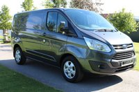USED 2017 17 FORD TRANSIT CUSTOM 2.0 270 LIMITED LR P/V 129 BHP Dark Grey - Limited - euro 6