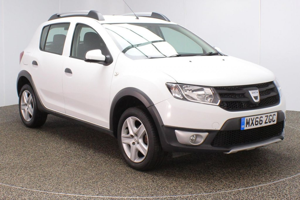 USED 2016 66 DACIA SANDERO 1.5 STEPWAY AMBIANCE DCI 5DR 90 BHP FREE 12 MONTHS ROAD TAX + BLUETOOTH + AIR CONDITIONING + RADIO/CD/AUX/USB + ELECTRIC WINDOWS