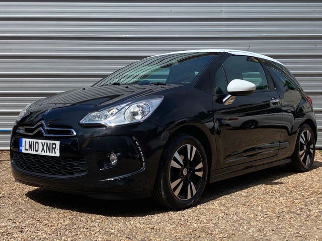 USED 2010 10 CITROEN DS3 1.4 DSIGN 3d 95 BHP 1 Owner+ Leather Interior +Nav