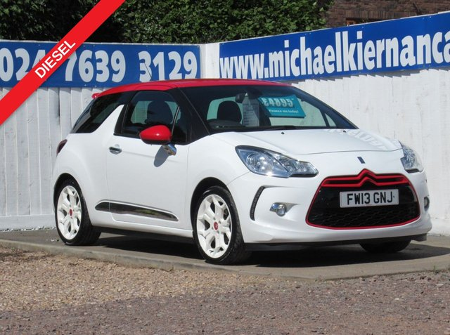 USED 2013 13 CITROEN DS3 AIRDREAM DSPORT RED E-HDI GREAT COLOUR COMBO