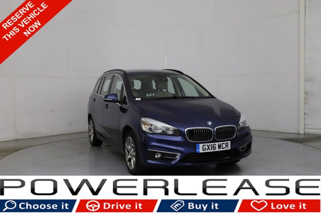 USED 2016 16 BMW 2 SERIES 2.0 220D LUXURY GRAN TOURER 5d 188 BHP R/CAMERA HEATED LEATHER SEATS