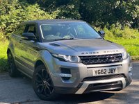 USED 2012 62 LAND ROVER RANGE ROVER EVOQUE 2.2 SD4 DYNAMIC 3d LAND ROVER SERVICE HISTORY, SATELLITE NAVIGATION, HEATED MEMORY SEATS, BLACK PACK, REVERSING CAMERA