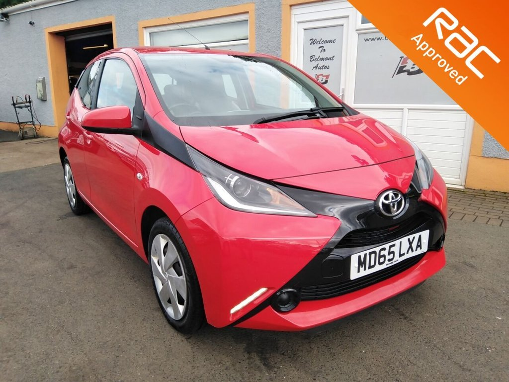 USED 2015 65 TOYOTA AYGO 1.0 VVT-I X-PLAY 5d 69 BHP Bluetooth, Air Con, Front Fog lights, Electric Mirrors
