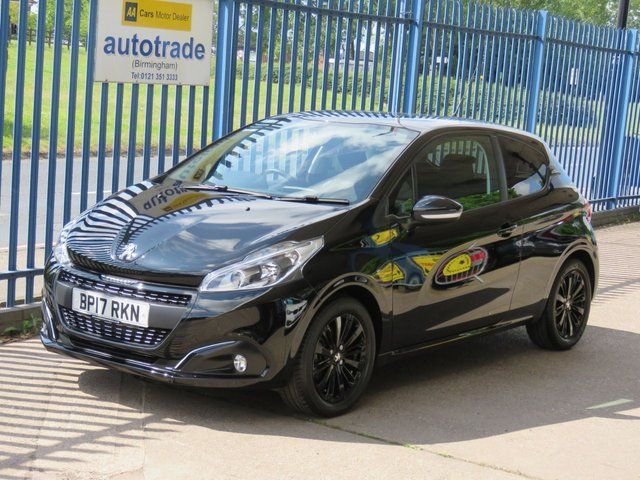 USED 2017 17 PEUGEOT 208 1.2 PURETECH BLACK EDITION 3d 82 BHP 1 Lady Owner & Only £20 Road Tax