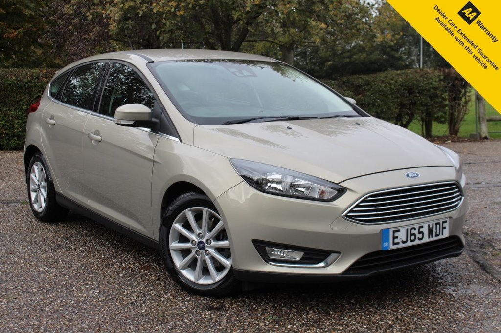 """USED 2015 65 FORD FOCUS 1.6 TITANIUM 5d 124 BHP ** SUPERB LOW MILEAGE AUTOMATIC ** REAR PARKING AID ** CRUISE CONTROL ** CLIMATE CONTROL ** BLUETOOTH ** 8"""" FORD SYNC 2 TOUCHSCREEN MEDIA SYSTEM WITH DAB ** ULEZ CHARGE EXEMPT ** LOW RATE £0 DEPOSIT FINANCE AVAILABLE **"""