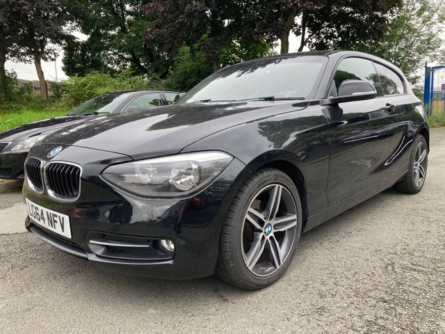 """USED 2014 64 BMW 1 SERIES 2.0 116D SPORT 3d AUTO WILL COME WITH 12 MONTHS MOT- SATNAV+17""""ALLOYS+30TAX+SENSORS+FOLDING MIRRORS+CLIMATE+PRIVACY GLASS+BMW NAVIGATION+DRIVERS COMFORT PACK+SUN PROTECTION PACK"""