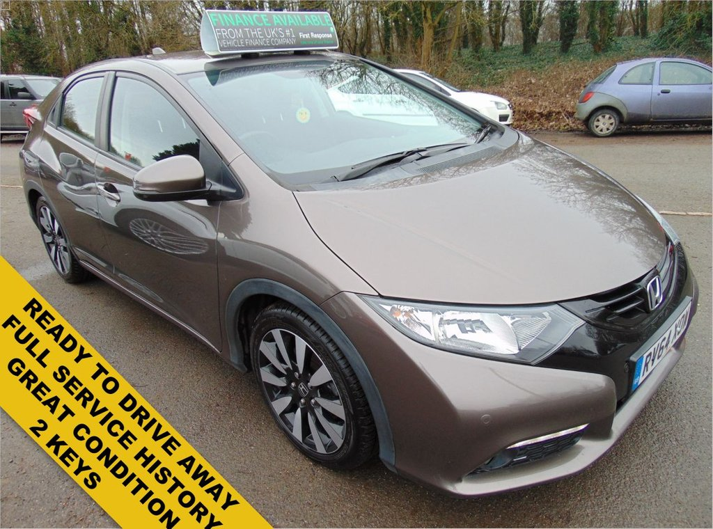 USED 2014 64 HONDA CIVIC 1.8 I-VTEC SE PLUS 5d 140 BHP FULL MAIN DEALER SERVICE HIST