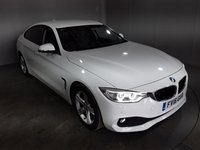 USED 2016 16 BMW 4 SERIES GRAN COUPE 2.0 420D SE GRAN COUPE 4DR 1 OWNER 188 BHP FULL BMW SERVICE HISTORY + £30 12 MONTHS ROAD TAX + HEATED LEATHER SEATS + SATELLITE NAVIGATION + PARKING SENSOR + BLUETOOTH + CRUISE CONTROL + CLIMATE CONTROL + MULTI FUNCTION WHEEL + XENON HEADLIGHTS + PRIVACY GLASS + DAB RADIO + AUX/USB PORTS + ELECTRIC WINDOWS + ELECTRIC/HEATED DOOR MIRRORS + 17 INCH ALLOY WHEELS