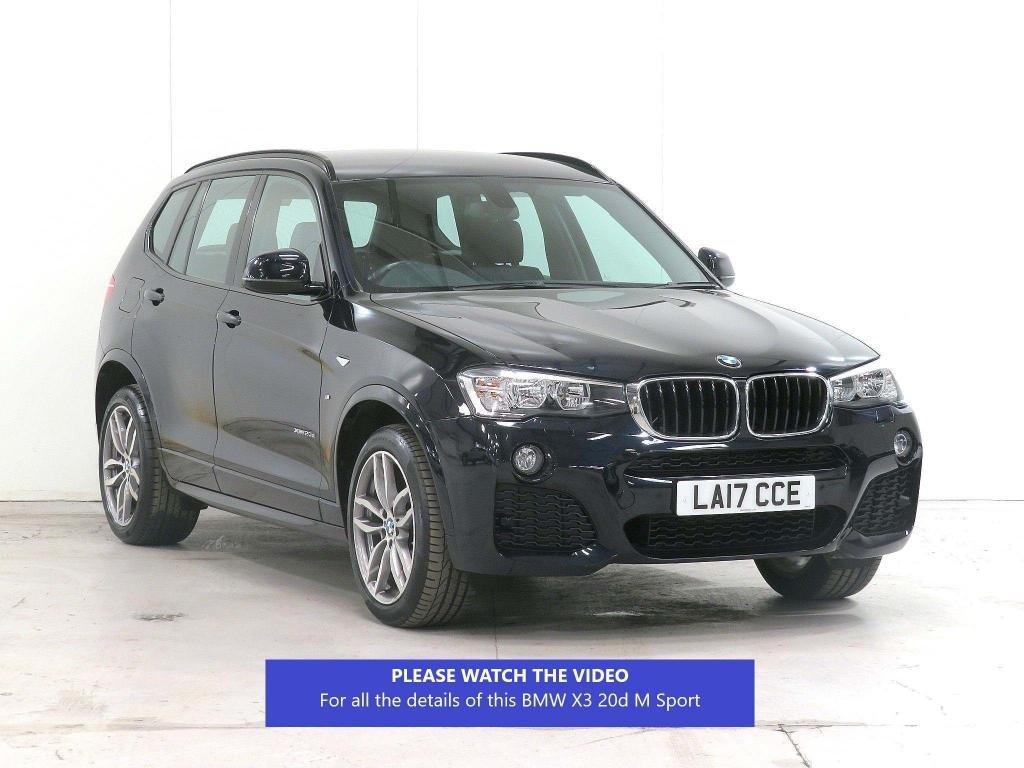 USED 2017 17 BMW X3 2.0 20d M Sport Sport Auto xDrive 5dr FULL-BMW-HISTORY**CARBON-BLACK