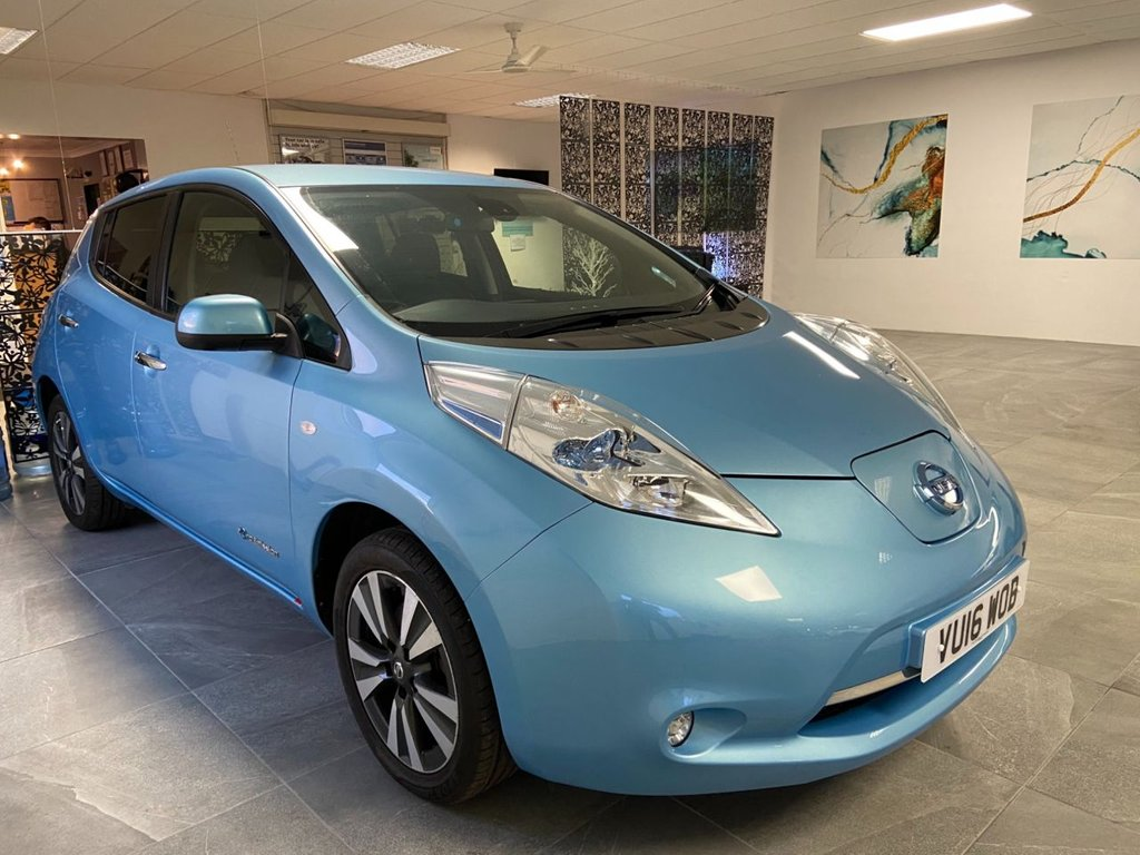 USED 2016 16 NISSAN LEAF 0.0 TEKNA 5d 109 BHP 30kWh Range up to 155 miles Nissan Battery Status Report