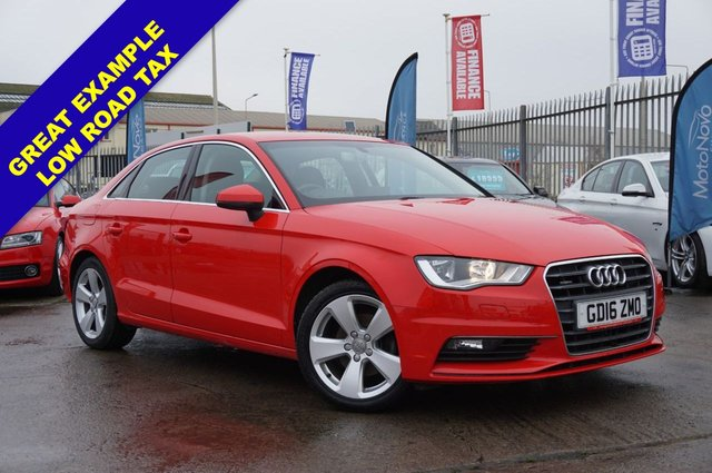 USED 2016 16 AUDI A3 1.6 TDI S LINE NAV QUATTRO 4d 109 BHP *GOOD SPEC, LONG MOT, GOOD EXAMPLE*