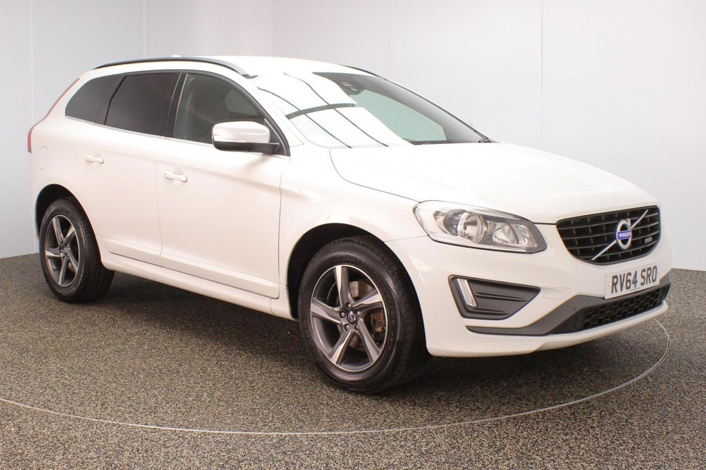 USED 2014 64 VOLVO XC60 2.4 D4 R-DESIGN AWD 5DR 178 BHP VOLVO SERVICE HISTORY + HALF LEATHER SEATS + PARKING SENSOR + BLUETOOTH + CRUISE CONTROL + CLIMATE CONTROL + MULTI FUNCTION WHEEL + PRIVACY GLASS + DAB RADIO + ELECTRIC WINDOWS + ELECTRIC/HEATED DOOR MIRRORS + 18 INCH ALLOY WHEELS